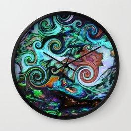 Opal Wave Wall Clock