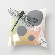 Dragonfly (variant) Throw Pillow