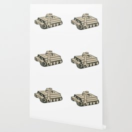 World War Two German Panzer Tank Aiming Wallpaper