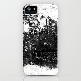 Black & white textured abstract iPhone Case