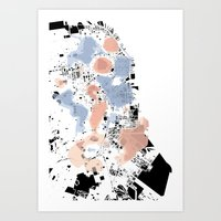 san francisco map Art Prints featuring San Francisco Crime Map by ARTITECTURE