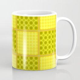 YELLOW CHECKS WITH POLKA DOTS Coffee Mug