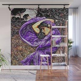 Boreas 1903 surreal portrait by John William Waterhouse in purple decor Wall Mural