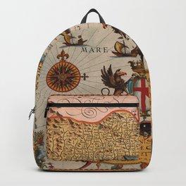 Map Of Genoa 1608 Backpack
