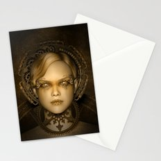 Steampunk female machine Stationery Cards