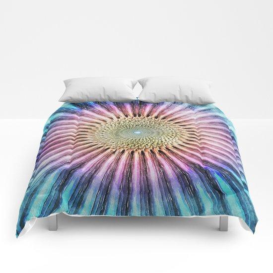 Textured Mandala Tie Dye Comforters