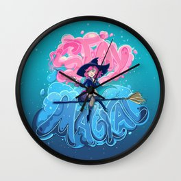 Stay Magical Wall Clock