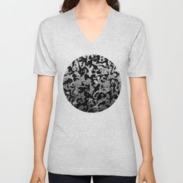 Abstract Magic - Silver Black Unisex V-Neck