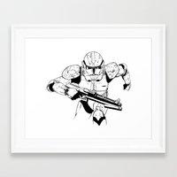 stormtrooper Framed Art Prints featuring Stormtrooper by Brontesart