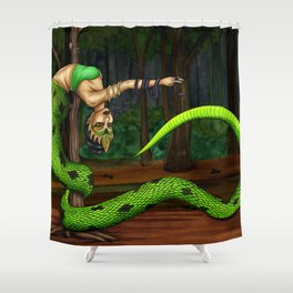 Pole Creatures: Nagi Shower Curtain