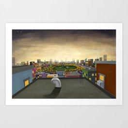 The Fall in Big City, Peanut Butter Zombie Print No.1 Art Print