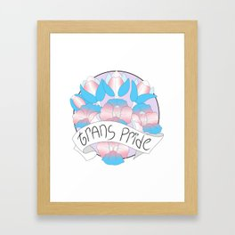 Trans Pride Flowers Framed Art Print