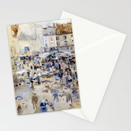 James McNeill Whistler Variations in Violet and Grey Market Place, Dieppe Stationery Cards