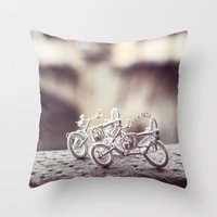 florence Throw Pillows featuring Florence by farsidian