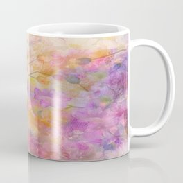 Sophisticated Painterly Floral Abstract Coffee Mug