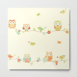 owl butterfly bird Metal Print