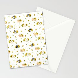 Puppies And Sunflowers Stationery Cards