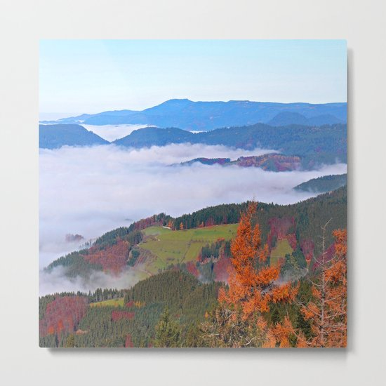 Misty Mountain Dreams Metal Print