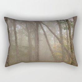 Misty Spruce Knob Forest Rectangular Pillow