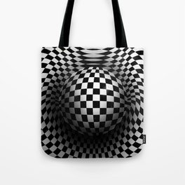 Chequered sphere Tote Bag