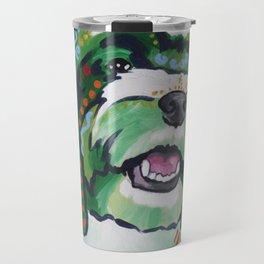 Havanese Pop Art Dog Portrait Travel Mug