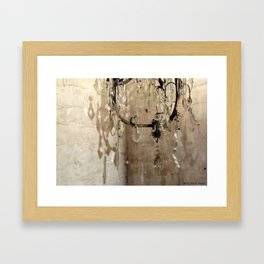 Vintage French Crystal Chandelier - I Framed Art Print