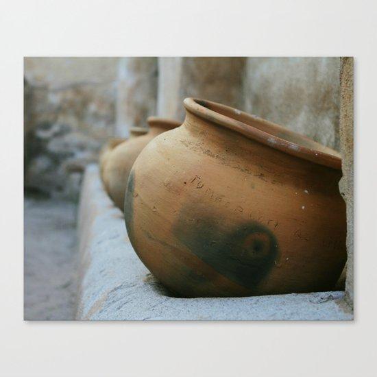 Tumacacori Pots fine art photography Canvas Print