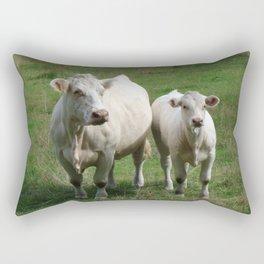 White Cows Rectangular Pillow