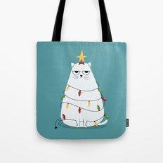 Grumpy Christmas Cat Tote Bag