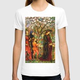The Enchanted Garden of Messer Ansaldo - Marie Spartali Stillman T-shirt