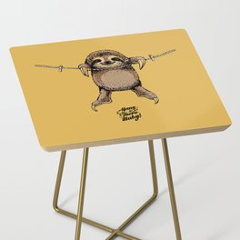 Hang in There Baby Sloth Side Table
