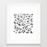 pandas Framed Art Prints featuring Pandas by Karen Vaughan