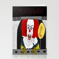 pennywise Stationery Cards featuring Pennywise AKA The Clown by ItalianRicanArt