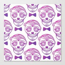 The Day of the Dead - Día de Muertos. Sugar Skull Calavera Print Male Pattern Canvas Print