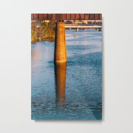 Reflection on the lake Metal Print