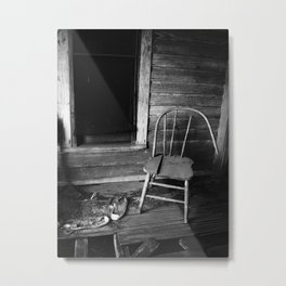 Old Chair in an Abandoned House Metal Print