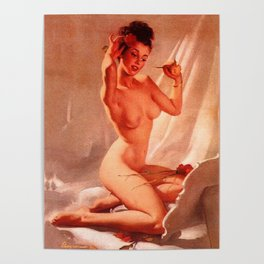 Self Love Pin-up Girl by Gil Elvgren Poster