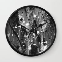levi Wall Clocks featuring Levi by Liquid Universe Designs