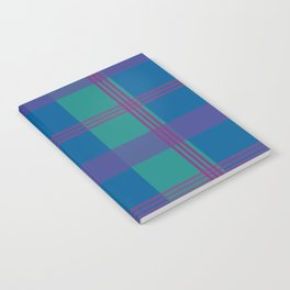 The Turquoise and Purple Check Notebook