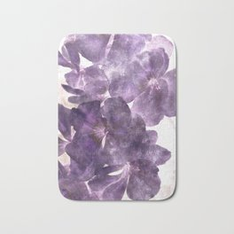 Purple Blossoming Bath Mat