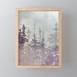 Purple Foggy Trees Framed Mini Art Print