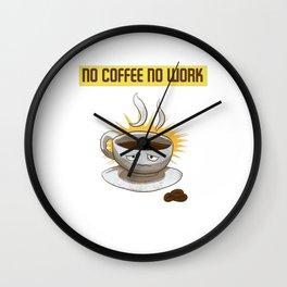 Coffee And Work Wall Clock
