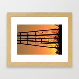 Kansas Sunset with a Windmill Silhouette Framed Art Print