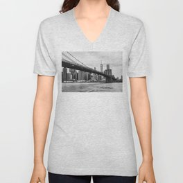 Monochrome Manhattan Unisex V-Neck