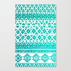 AQUAMARINE TRIBAL  Canvas Print