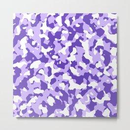 Camouflage Purple Metal Print