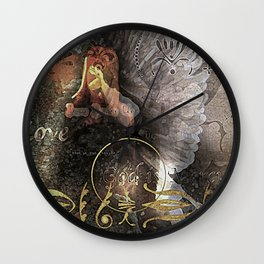 Cover You with His Feathers Wall Clock