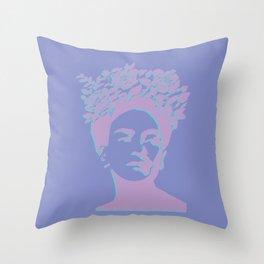 frida kahlo (purple version) Throw Pillow