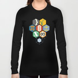 Math in color (white Background) Long Sleeve T-shirt