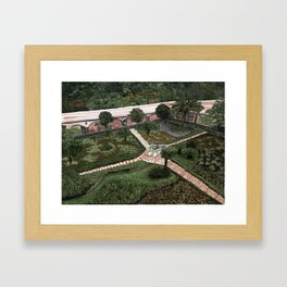 Hacienda Courtyard Framed Art Print